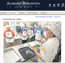 Alamance-Burlington site of Chef Cyndie with photo by Sam Roberts