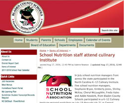 School Nutrition staff attend culinary institute