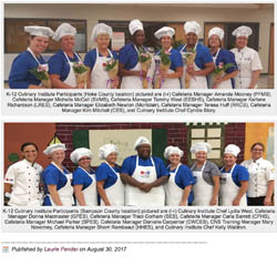 LOCAL CHILD NUTRITION PROFESSIONALS PARTICIPATE IN K-12 CULINARY INSTITUTE