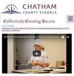 Chatham County Schools Nutrition Professionals Participate in K-12 Culinary Institute