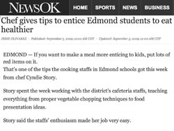 Chef gives tips to entice Edmond students to eat healthier