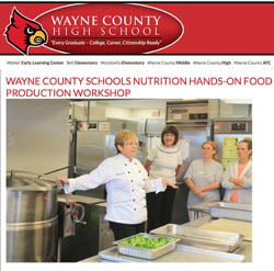 WAYNE COUNTY SCHOOLS NUTRITION HANDS-ON FOOD PRODUCTION WORKSHOP
