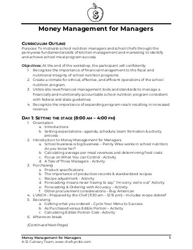 Flyer Thumbnail for Money Management for Managers